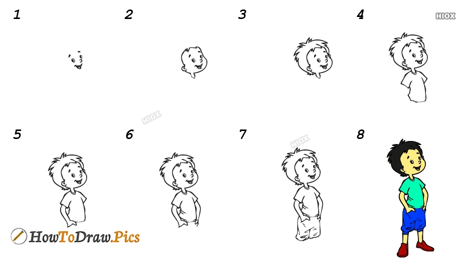 How To Draw A Little Boy Step By Step Images