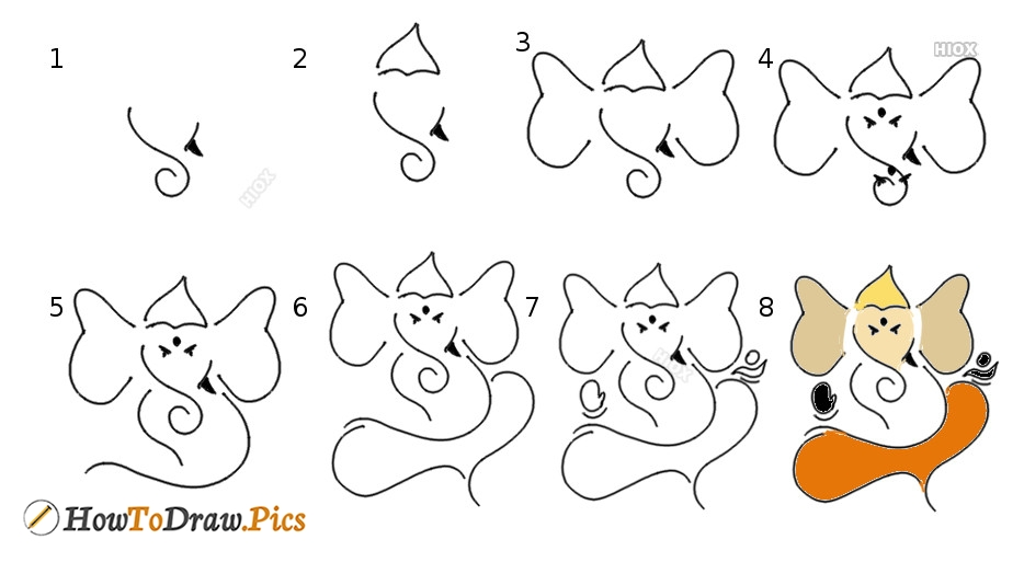 How To Draw Ganesha Step By Step Images