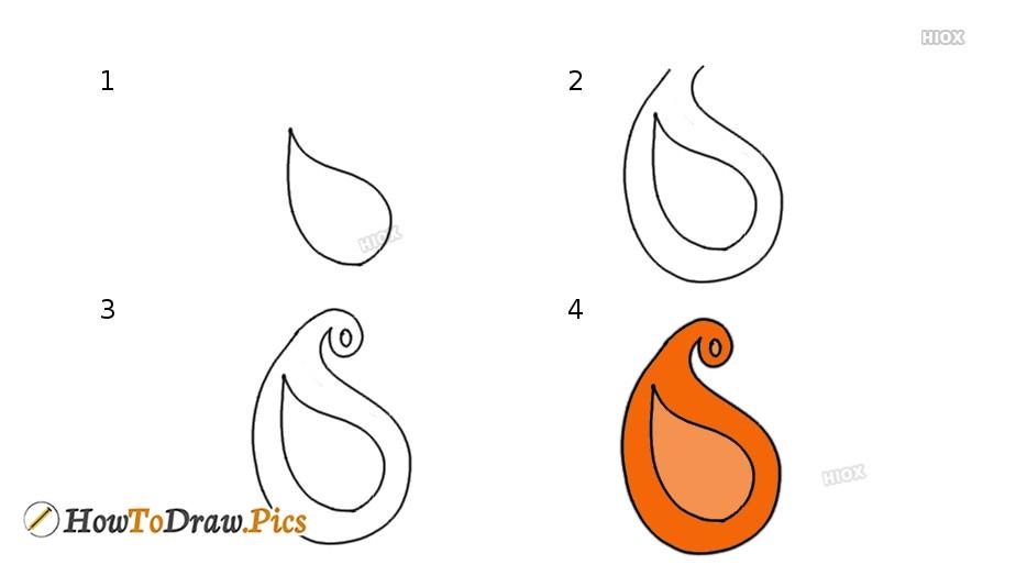 How To Draw Mango Design