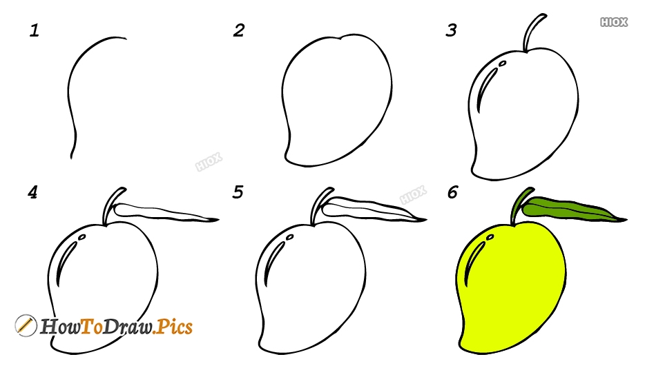 How To Draw Mango For Kids