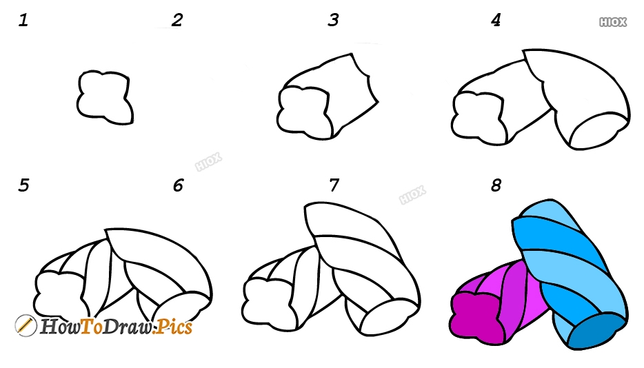 How To Draw Sweets Step By Step Images