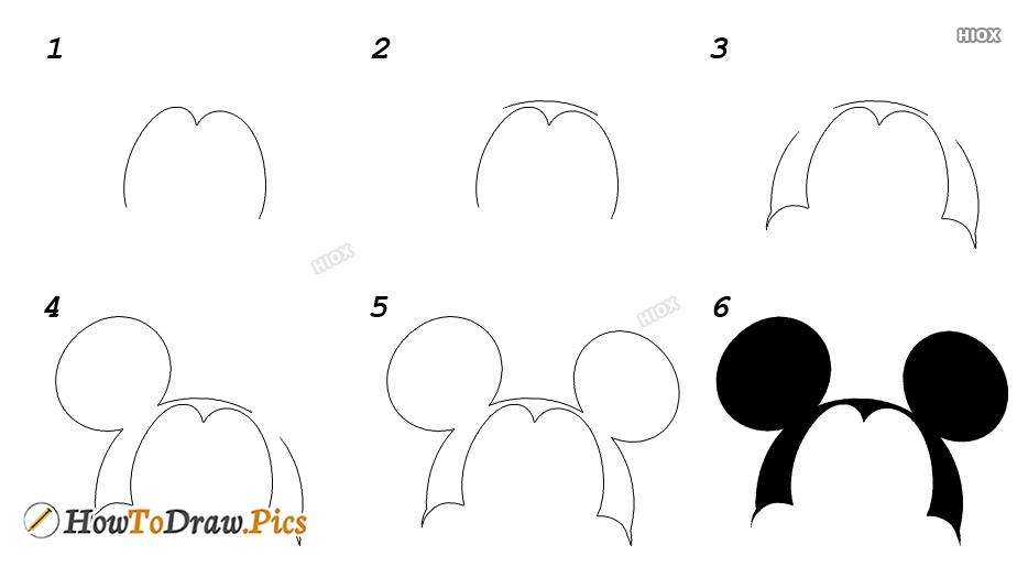 How To Draw Mickey Mouse Ears