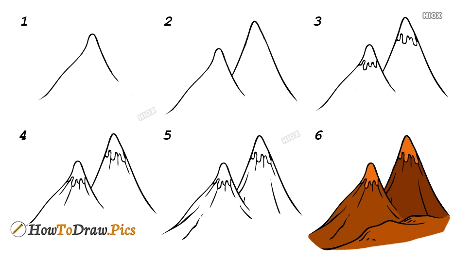 Nature Step By Step Drawings Images