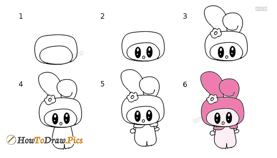 How To Draw My Melody Howtodraw Pics
