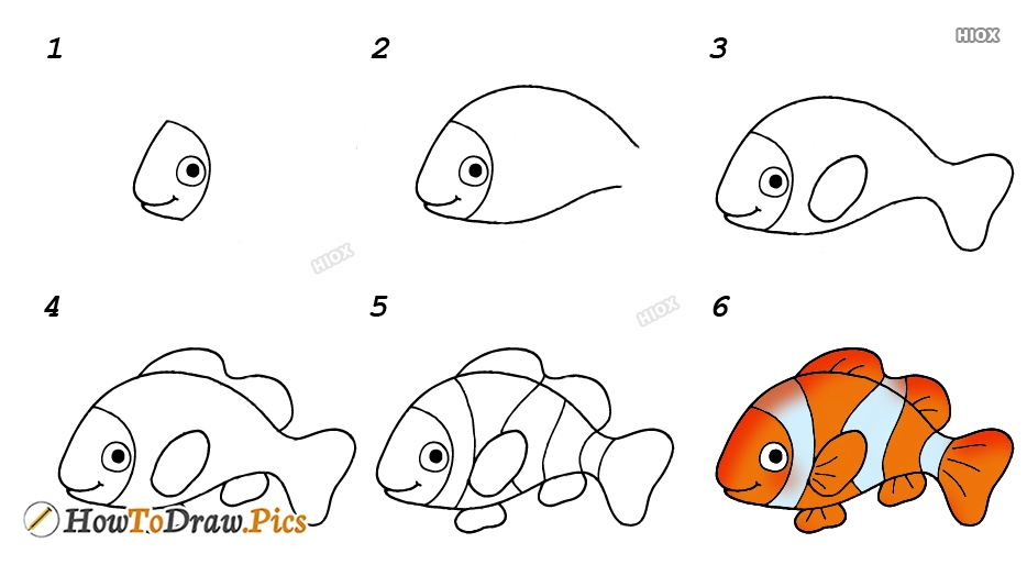 How To Draw Nemo Step by Step Pictures