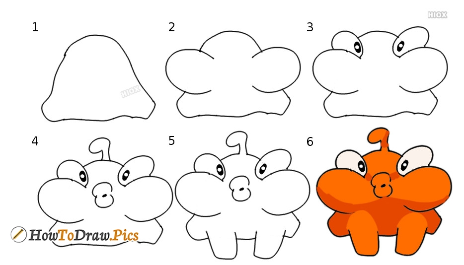 How To Draw Om Nom Lick