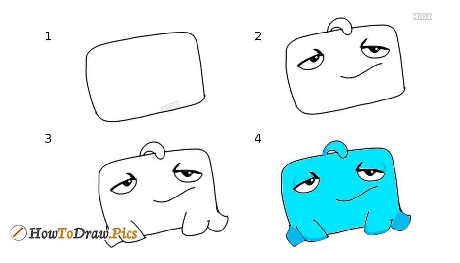 How To Draw Om Nom Blue