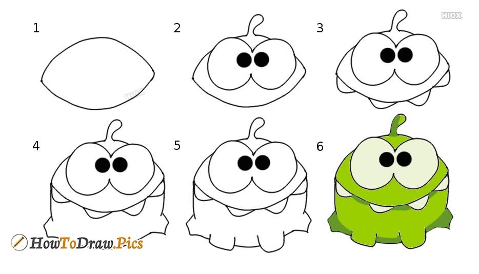 How To Draw Om Nom