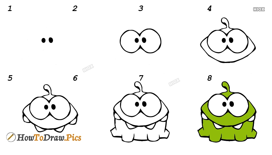 How To Draw Om Nom Candy