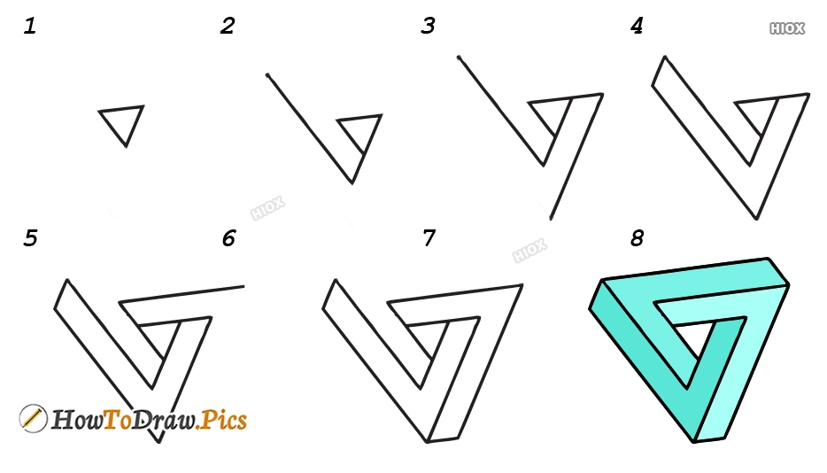 How To Draw 3d Shapes Step By Step Images