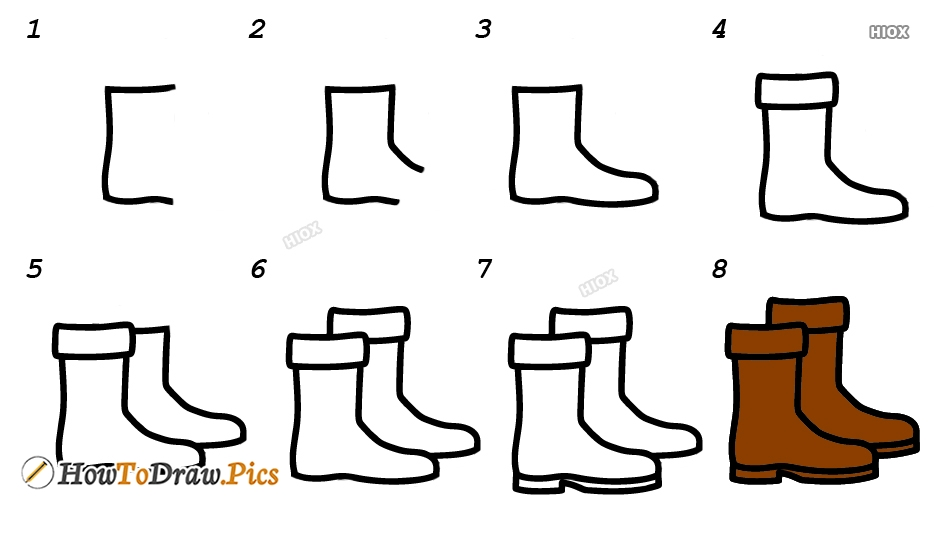 How To Draw Footwear Step By Step Images
