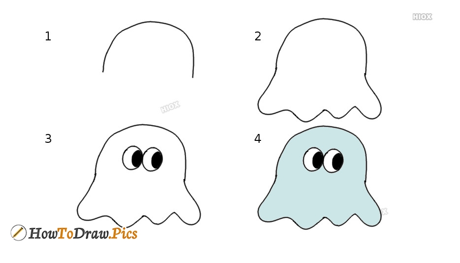 How To Draw Simple Ghost