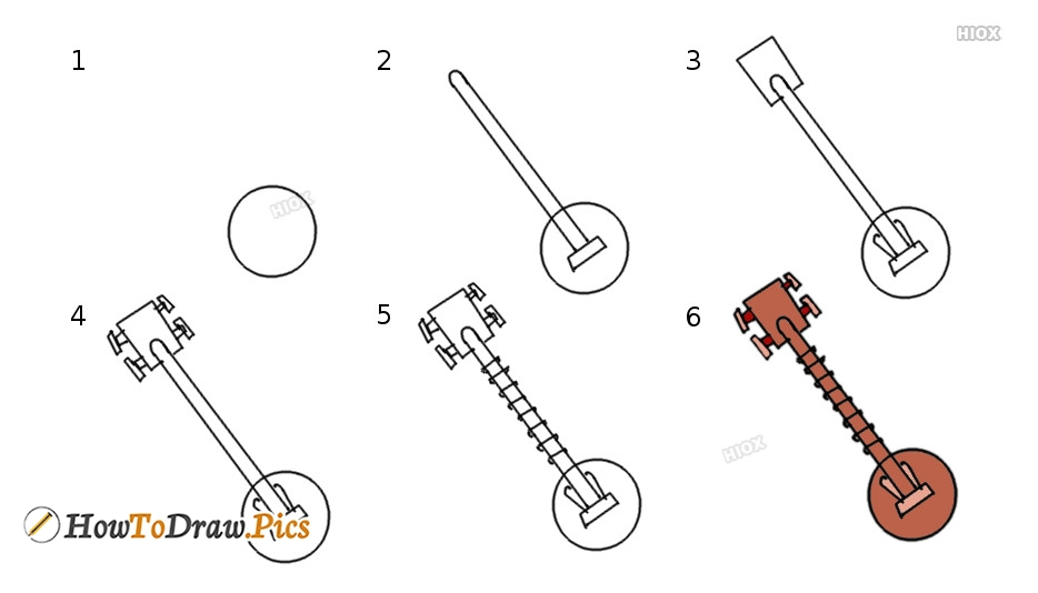How To Draw Musical Instruments Step By Step Images