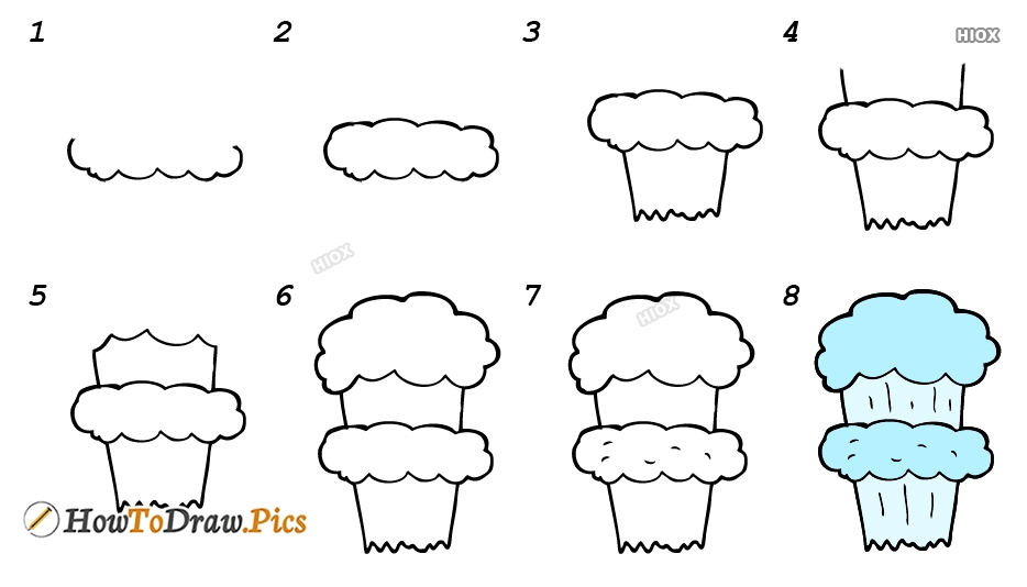 How To Draw A Mushroom Cloud Step By Step Images