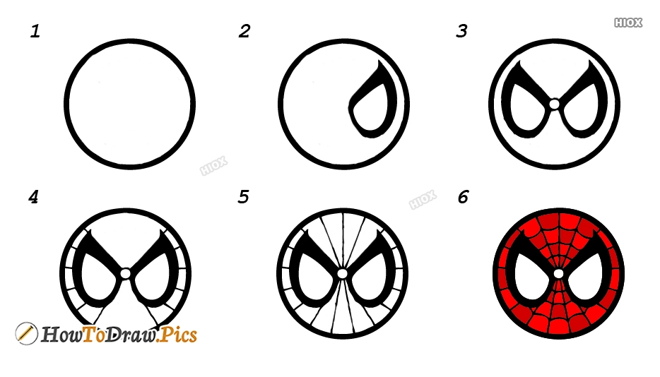 How To Draw Cartoons Faces Step By Step Images