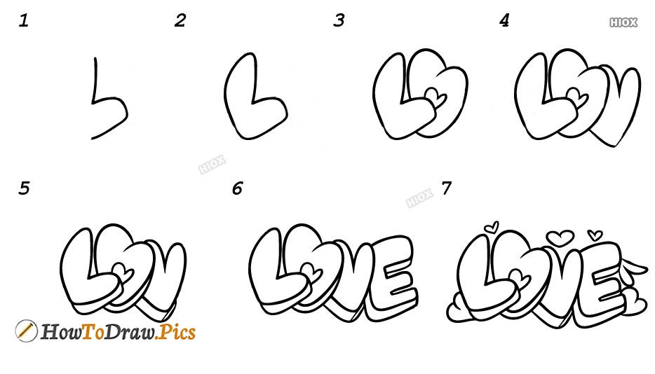 How To Draw Step By Step Graffiti