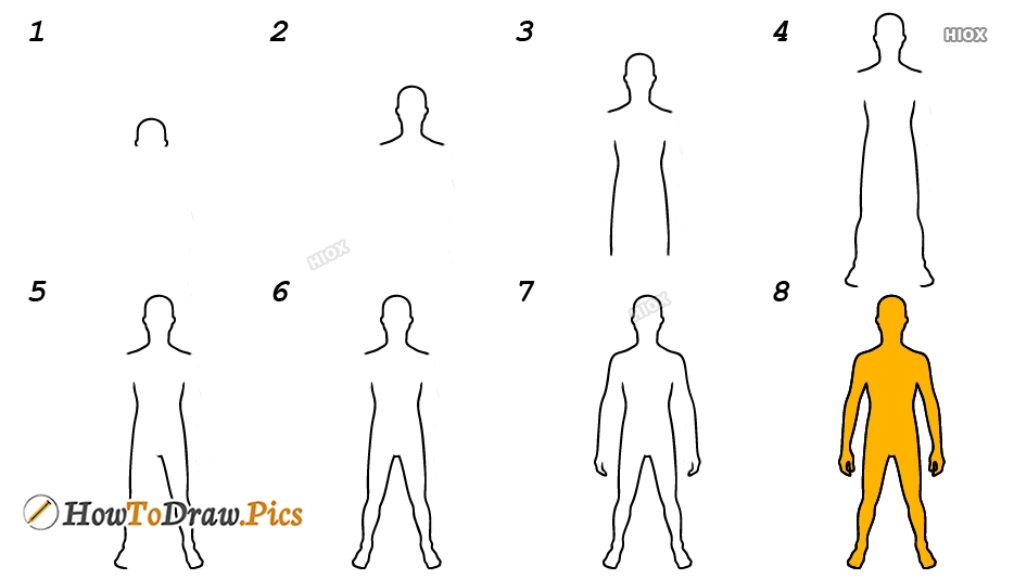 How To Draw Step By Step Human Body
