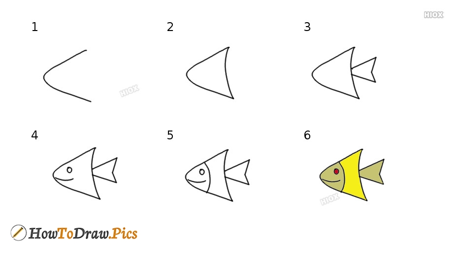 How To Draw Step By Step Fish