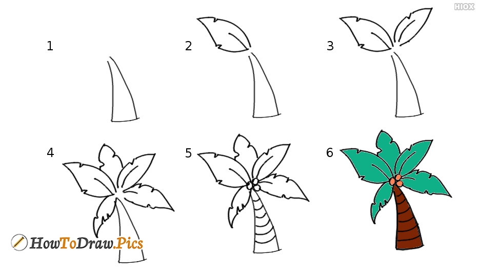 How To Draw Step By Step Tree