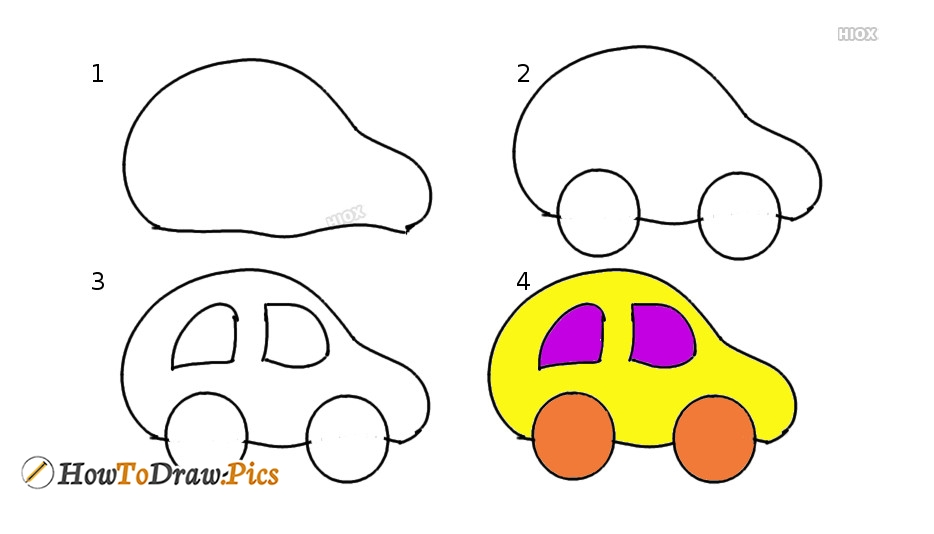 How To Draw Step By Step A Car
