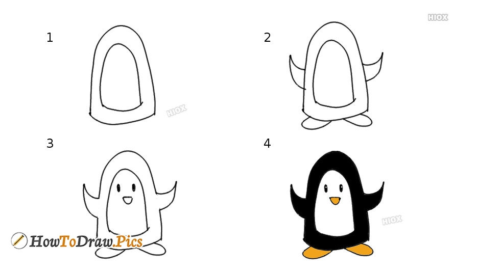 How To Draw A Penguin | Easy Step By Step Drawing