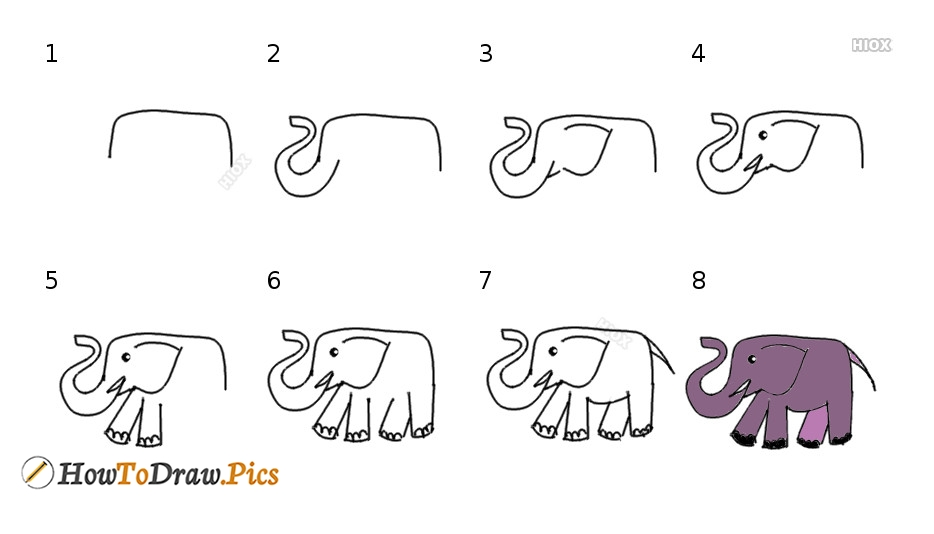How To Draw Step By Step Elephant