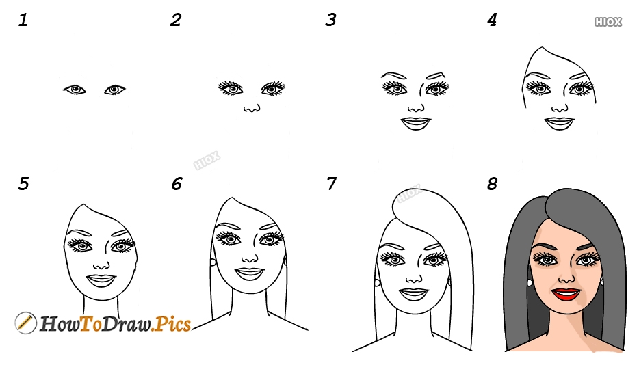 How To Draw Step By Step Barbie