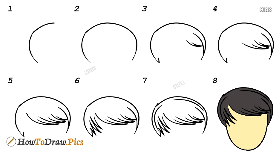 How To Draw Step By Step Hair