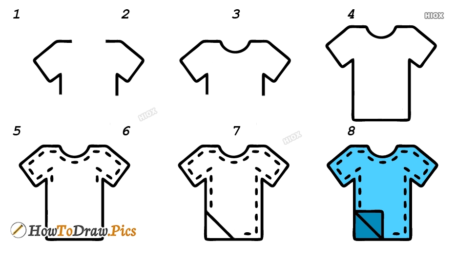 How To Draw Clothes Step By Step Images