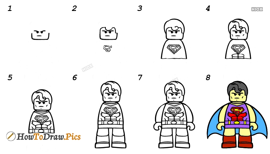 How To Draw Superman Step By Step Pictures