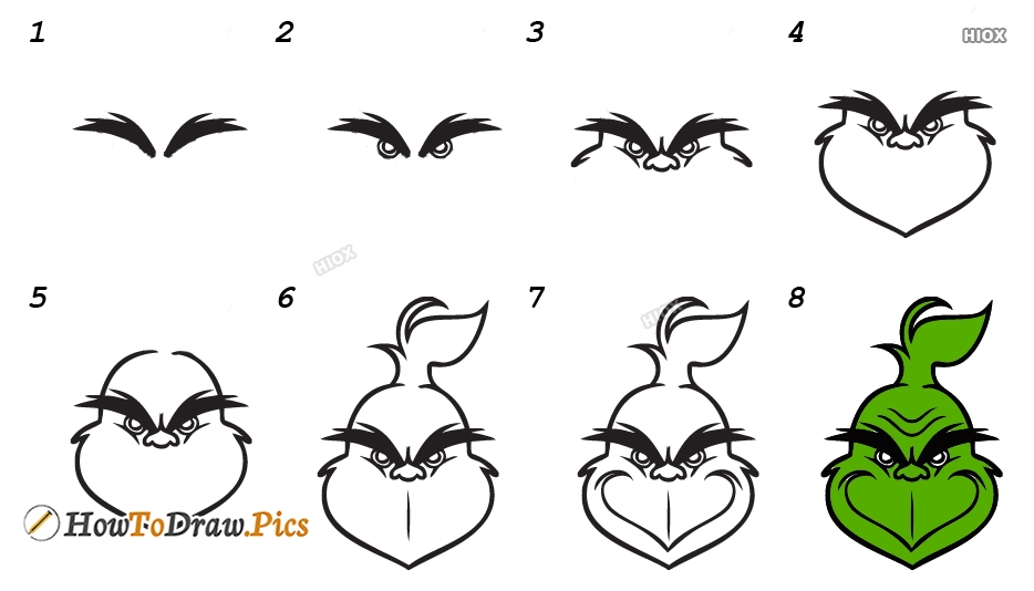 How To Draw Grinch Step by Step Pictures