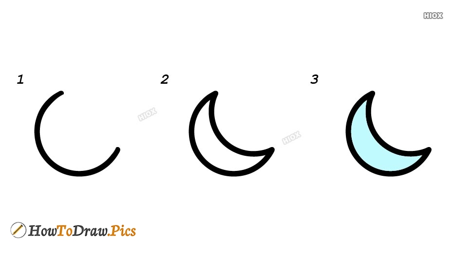 How To Draw The Moon