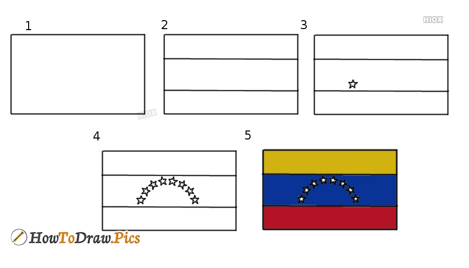 How To Draw Flag Step by Step Pictures