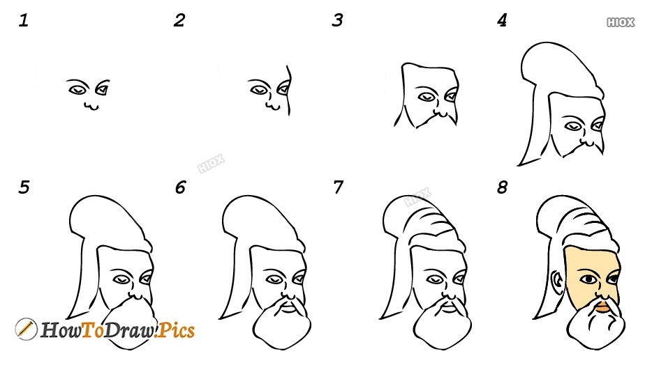 How To Draw Thiruvalluvar Step By Step Images