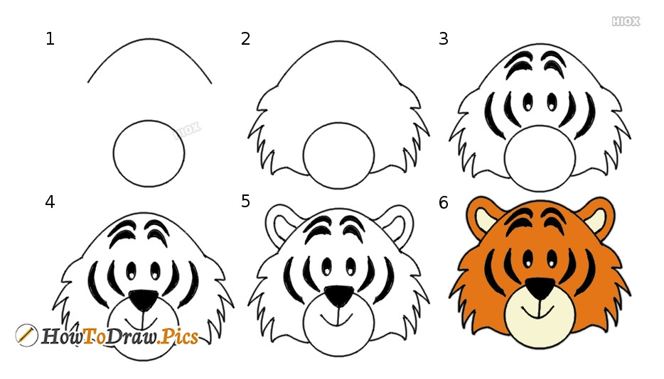 How To Draw Tiger