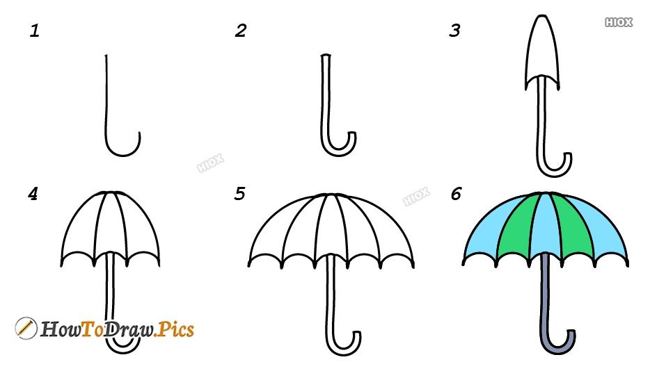How To Draw Umbrella Design