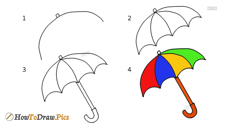 How To Draw Umbrella Picture