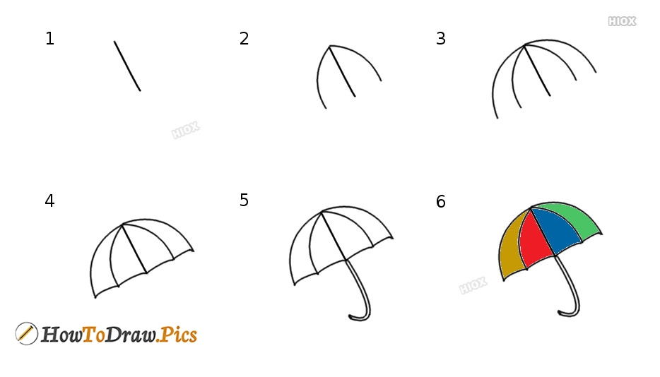 How To Draw Umbrella Pictures | Umbrella Step By Step Drawing Lessons
