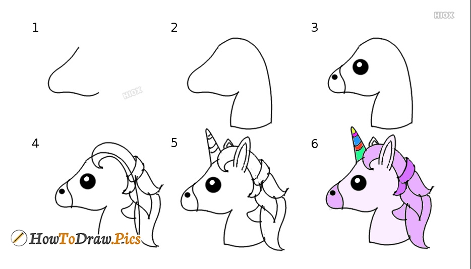 How To Draw Unicorn Step By Step?