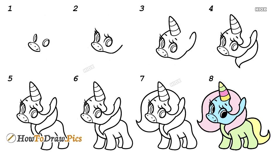 How To Draw Unicorn Easy