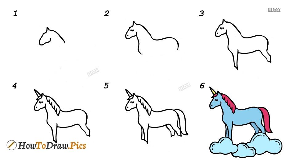 How To Draw Unicorn Step By Step