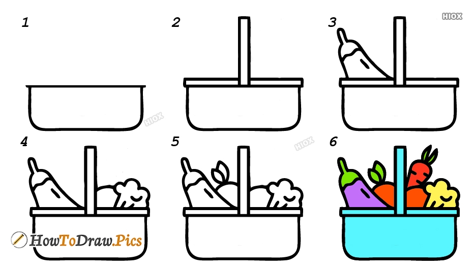 How To Draw Healthy Food Step By Step Pictures