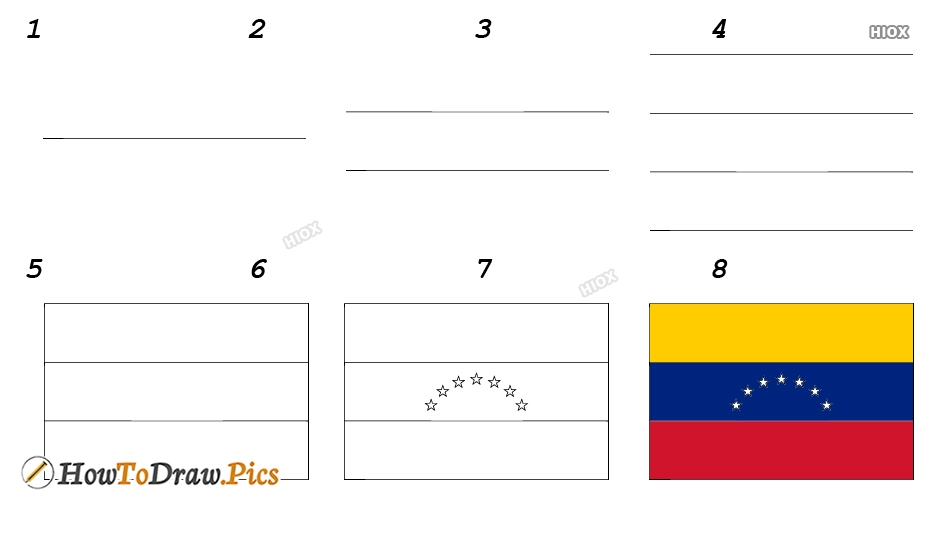 How To Draw Venezuela Flag