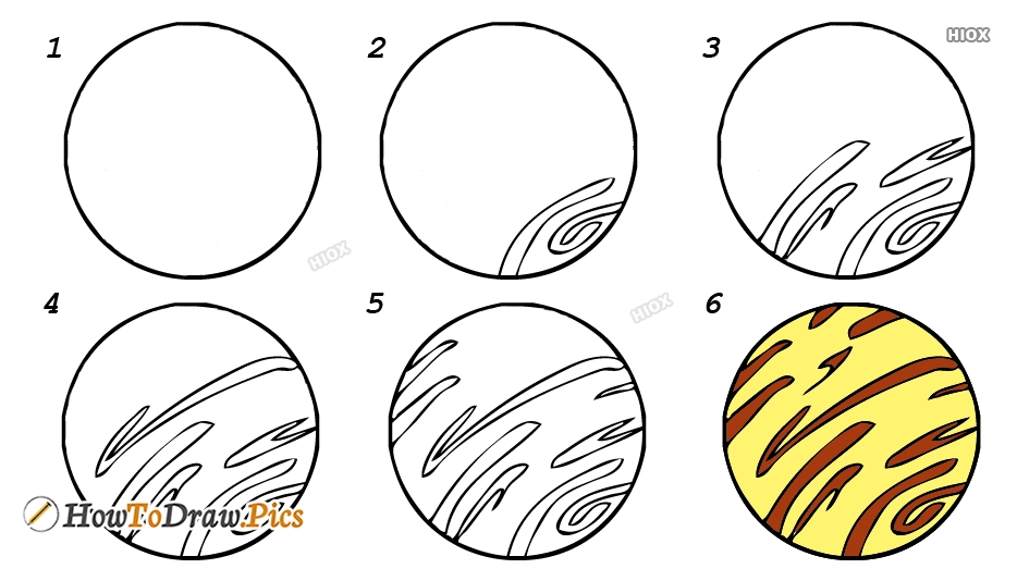 How To Draw A Planet Step By Step Images