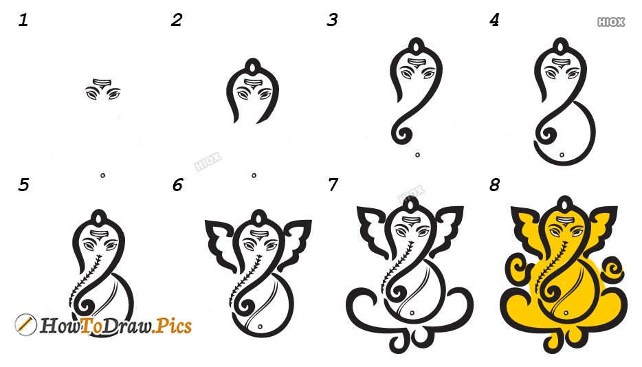 How To Draw Vinayagar