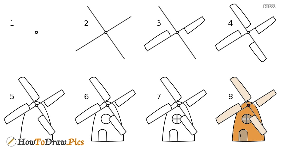 How To Draw Windmill