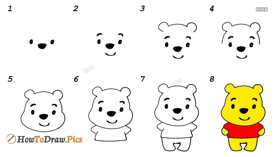 How To Draw A Cartoon Bear Step By Step Images