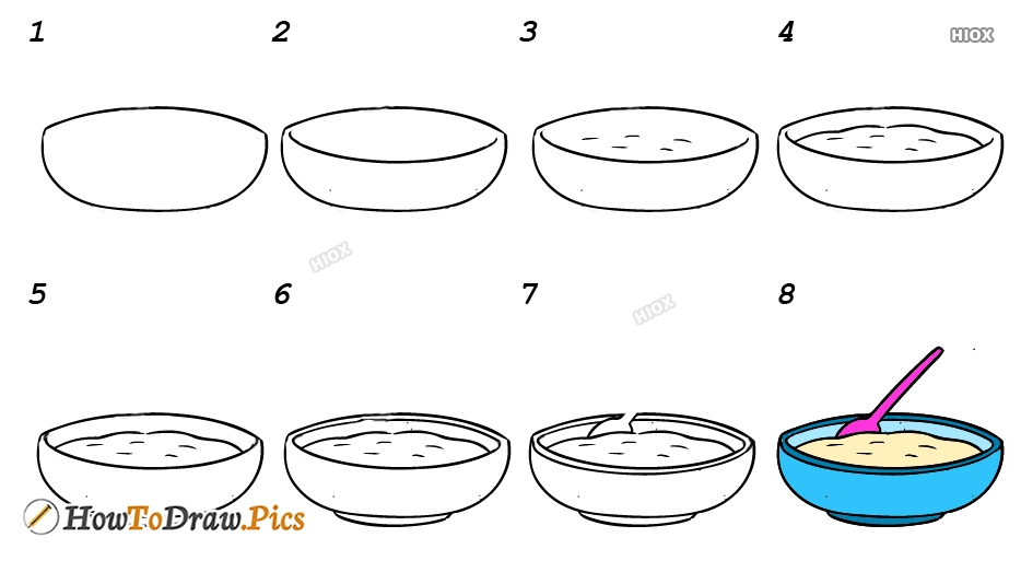 How To Draw Food Step By Step Easy Images