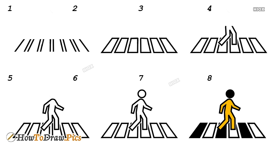 How To Draw Zebra Crossing Drawings