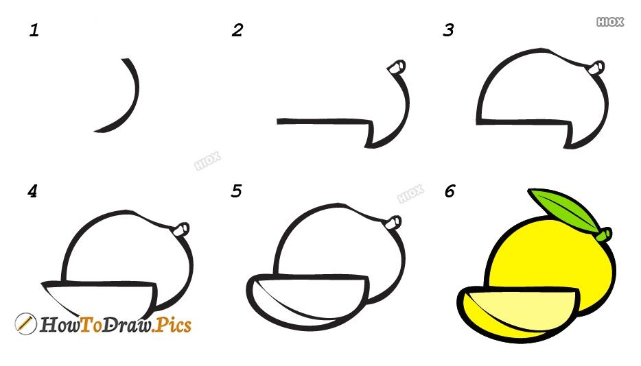 How To Make Mango Drawing